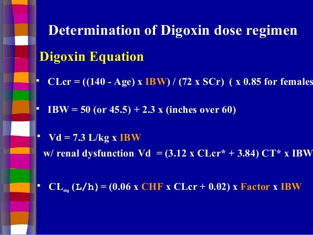 Clinical Pharmacokinetics Of Digoxin