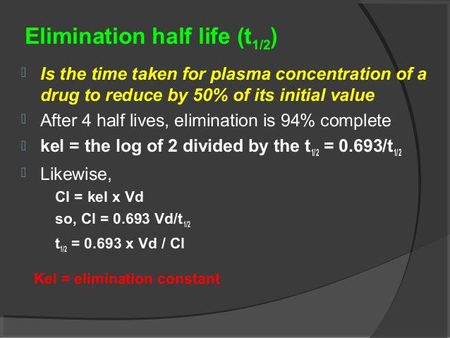 Clinical Pharmacokinetics I Half Life Order Of Kinetics