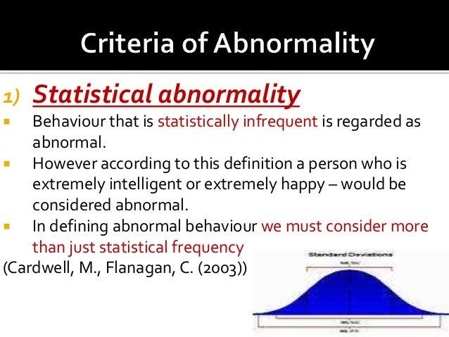 four criteria for abnormal behavior