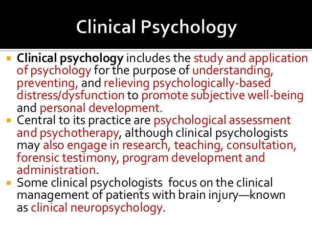clinical psychology examples