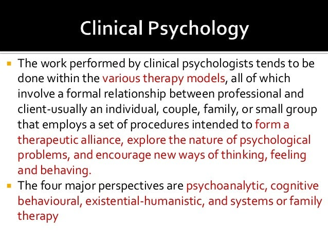 Clinical Psychology course study