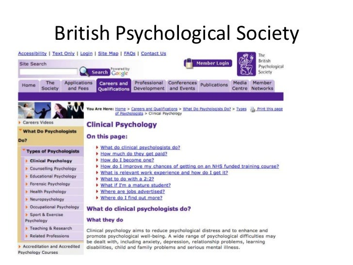 Clinical psychology clearing house