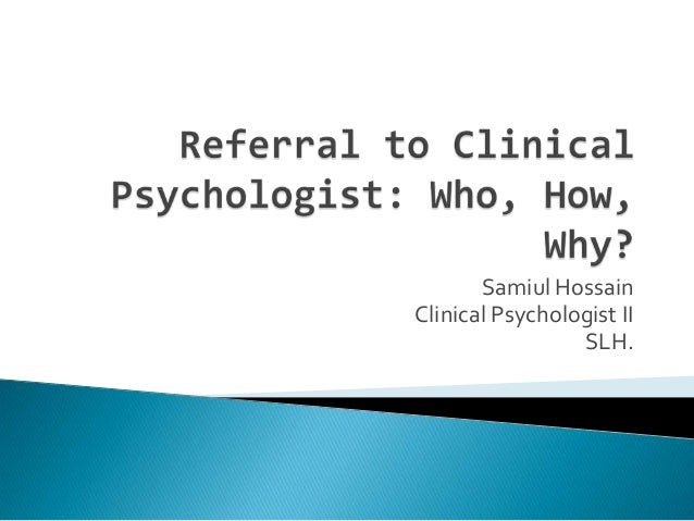 how to choose a clinical psychologist