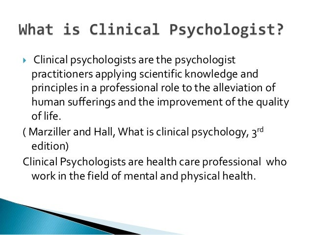 When to refer Clinical Psychologist and why?