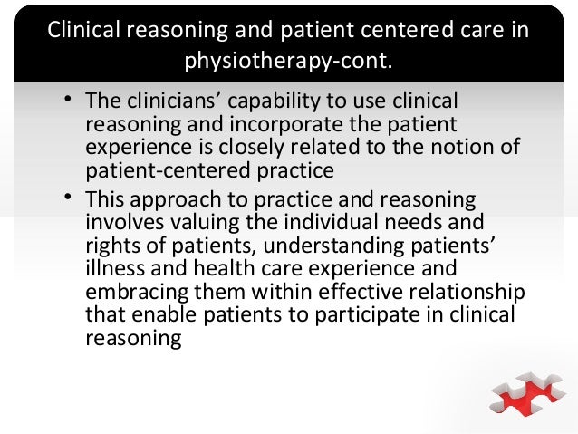 Effective clinical reasoning