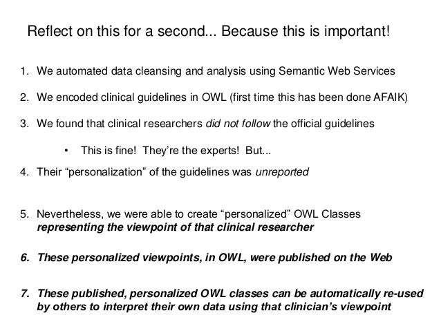 Reflect on this for a second... Because this is important!1. We automated data cleansing and analysis using Semantic Web S...