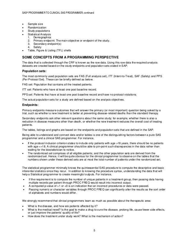 Sas Clinical Programmer Resume. clinical sas programmer resume cv do ...