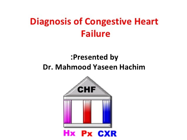 Diagnosis of Congestive Heart            Failure         :Presented by  Dr. Mahmood Yaseen Hachim