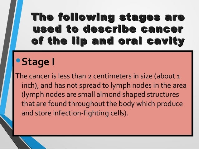 Oral Cancer Stage And Grade