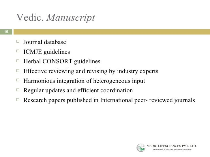guidelines academic papers research projects
