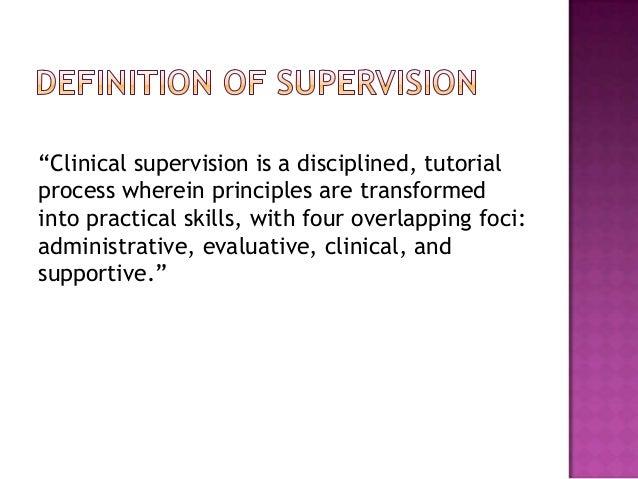 Clinical supervisor alcohol and drug