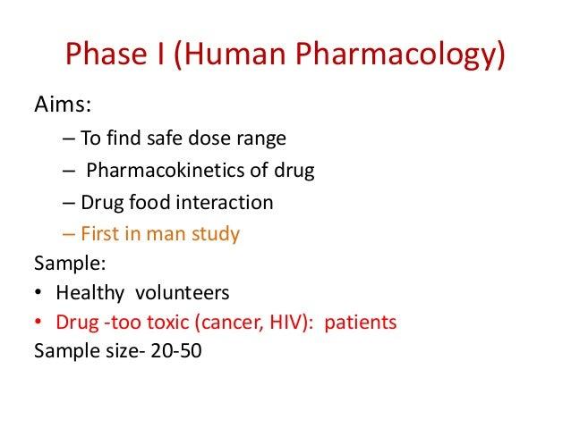 Phase I contd Design Open label Non-randomized Dose escalation Uncontrolled Randomized 2 way crossover study of one dose l...
