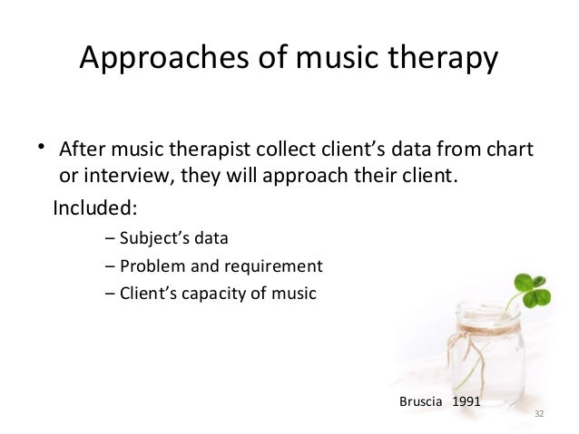 effectiveness of music therapy essay Music therapy is frequently offered to individuals suffering from depression despite the lack of research into the effects of music therapy on this population, anecdotal evidence suggests that the results are rather promising the aim of this study is to examine whether improvisational.