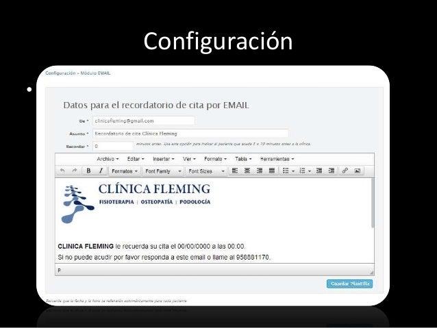 Configuración  • Log. Registro de todo lo que hacen todos y cada  uno de los usuarios. No se pueden borrar ni  manipular.