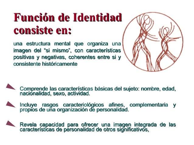Función de IdentidadFunción de Identidad consiste en:consiste en: una estructura mental que organiza unauna estructura men...