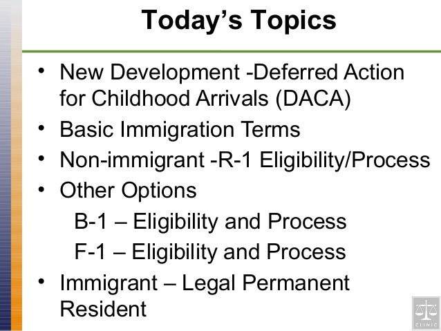 legal implications for deferred action for childhood arrivals Deferred action is a discretionary determination to defer removal actions against an individual for a certain period of time in simple words, it is a promise by the government not to deport a young illegal immigrant for two years (subject to renewal) you have to understand that daca does not provide.