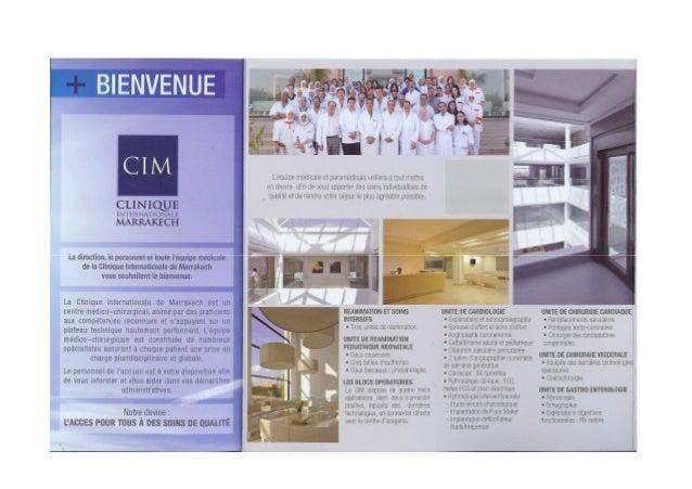Inn-mi  CL/ nsiiotrié lN'l'liRNA'l'l()NAl, l: MARRAKECH  La direction,  le personnel et toute Péquipe médicale de la Clini...