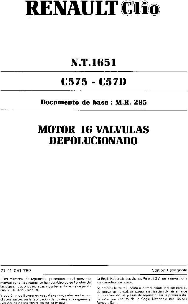 clio 16v manual de taller rh slideshare net manual taller renault clio 2004 manual de taller renault clio 1 y clio 2 fase 1