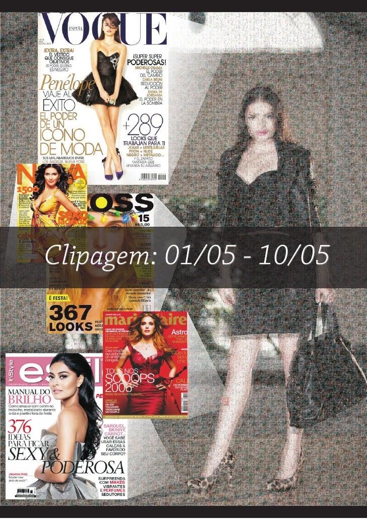 Clipagem: 01/05 - 10/05