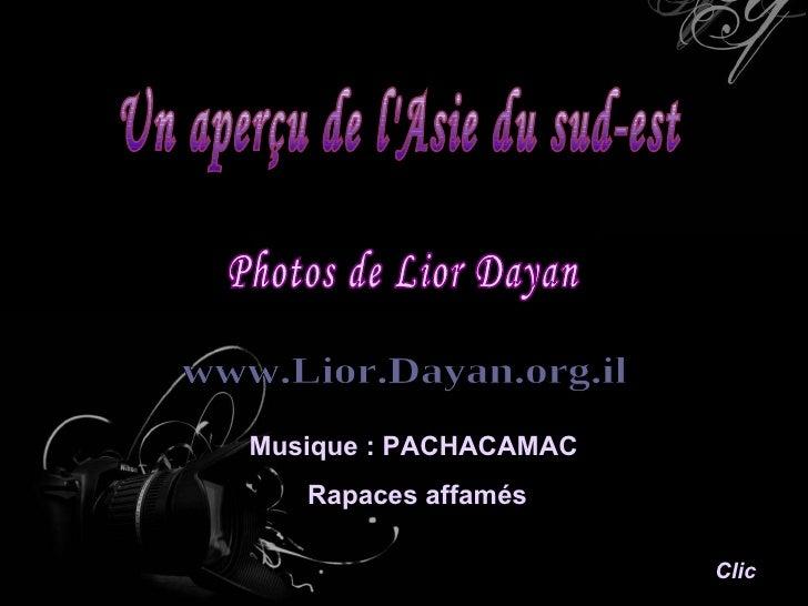 Un aperçu de l'Asie du sud-est Photos de Lior Dayan www.Lior.Dayan.org.il Clic Musique : PACHACAMAC  Rapaces affamés