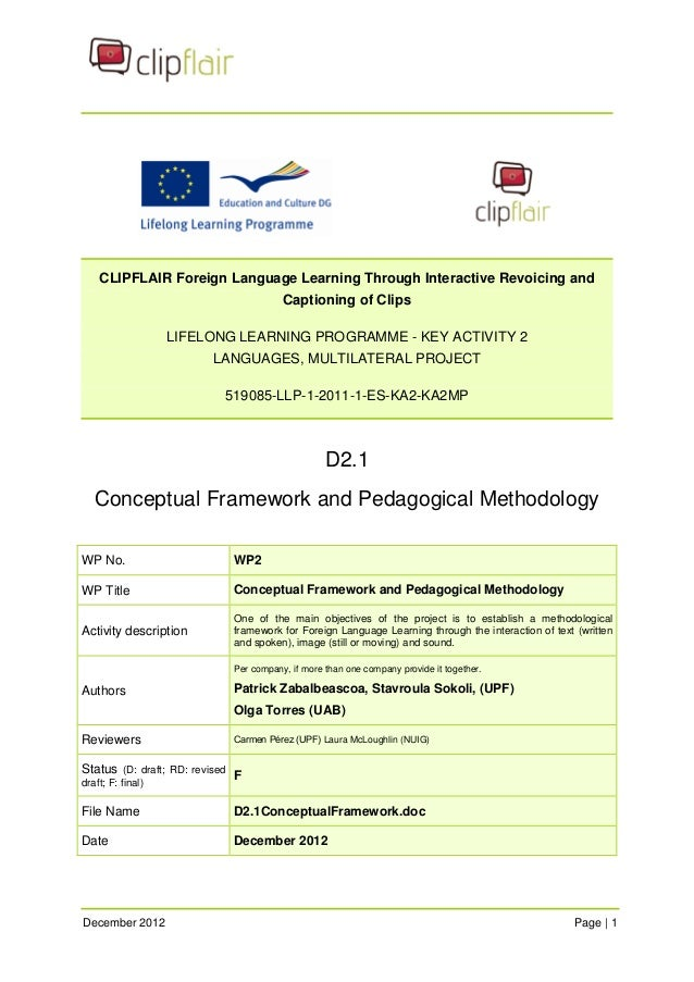 CLIPFLAIR Foreign Language Learning Through Interactive Revoicing and Captioning of Clips  LIFELONG LEARNING PROGRAMME - K...