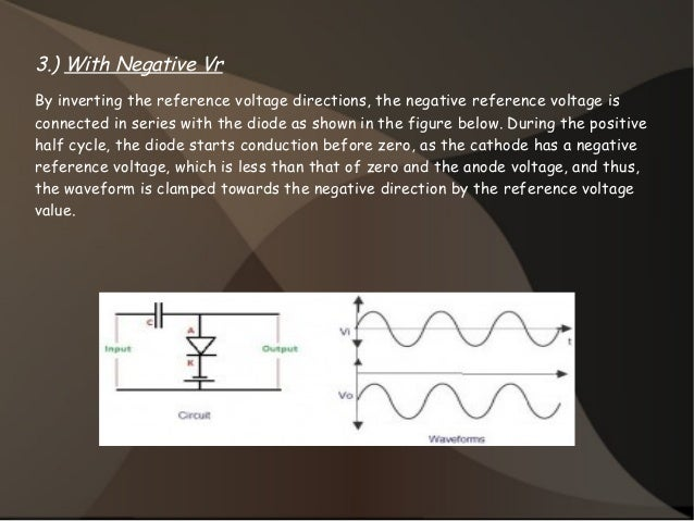 3.) With Negative Vr By inverting the reference voltage directions, the negative reference voltage is connected in series ...