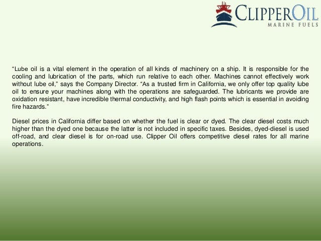 Clipper oil offers wholesale diesel prices in california