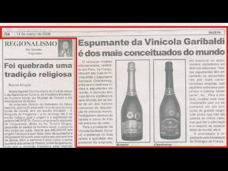 Clipping Vinicola Garibaldi - Janeiro/Abril 2008