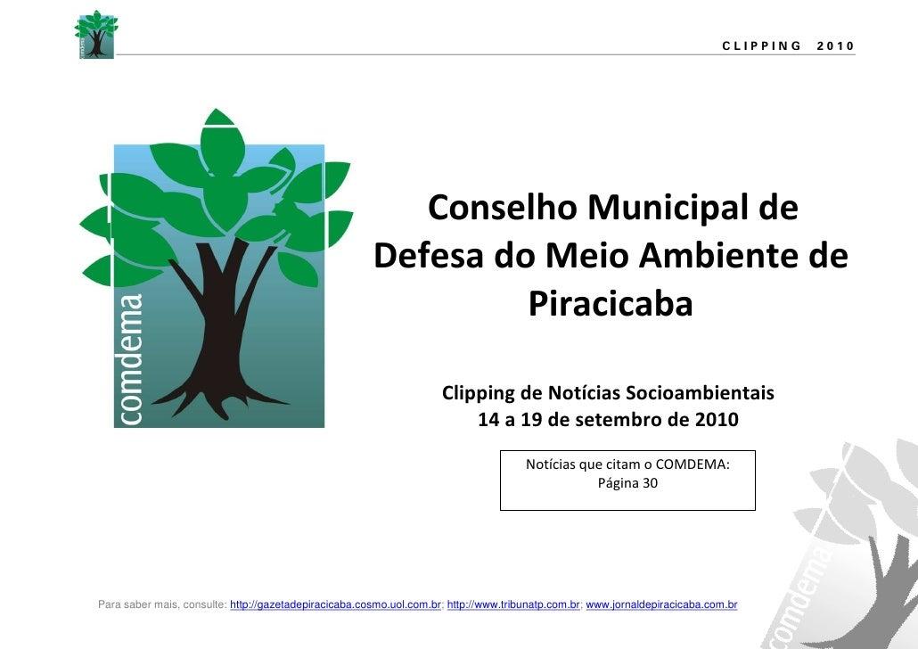 CLIPPING   2010                                                               Conselho Municipal de                       ...