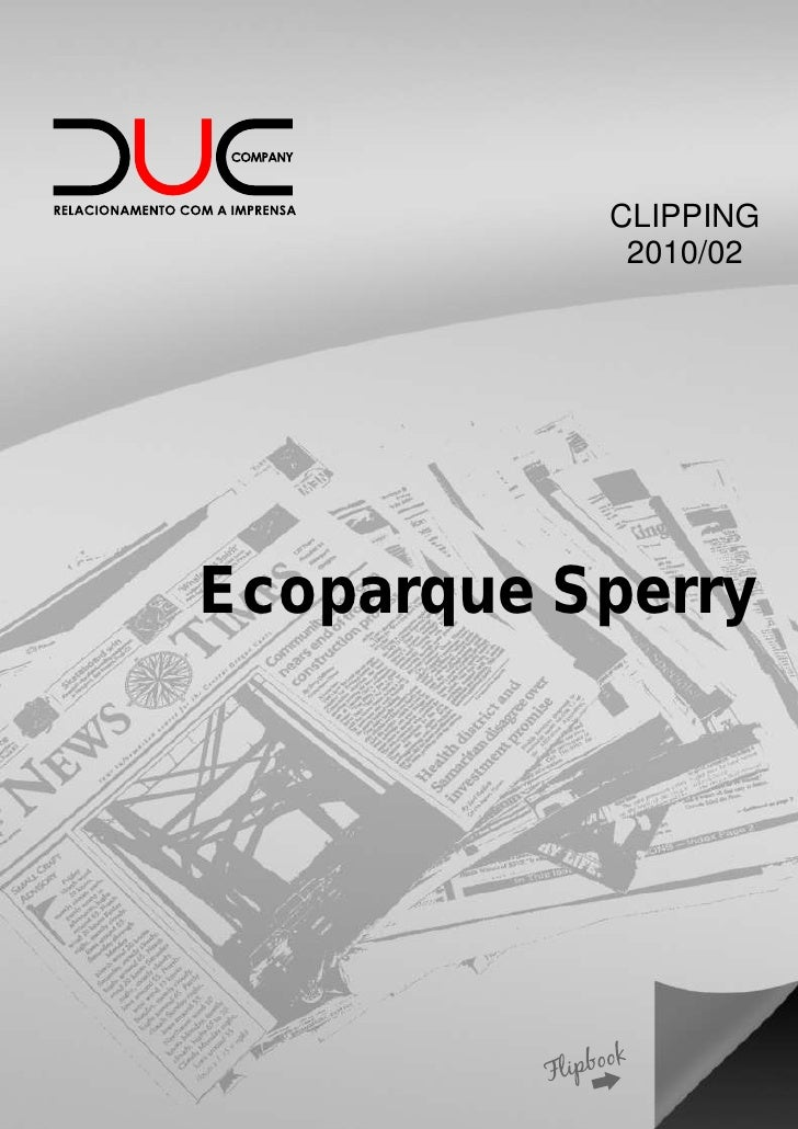 CLIPPING            2010/02Ecoparque Sperry