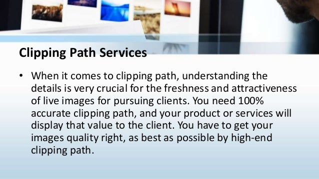 Clipping path service Slide 2