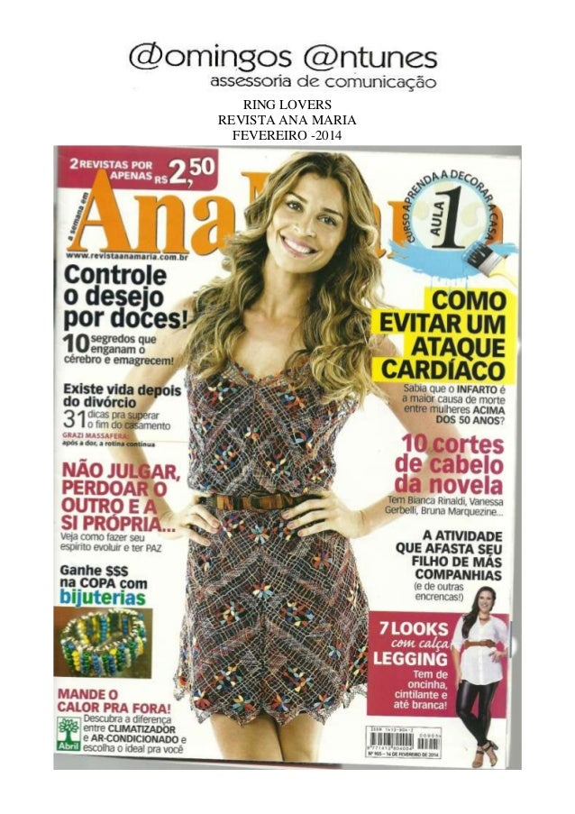 RING LOVERS REVISTA ANA MARIA FEVEREIRO -2014