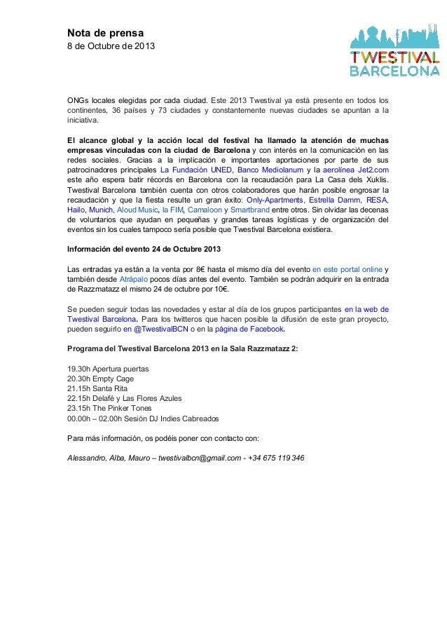 Clipping Twestival Barcelona 2013 Slide 3
