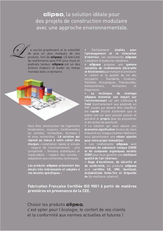 clipso, la solution idéale pour  des projets de construction modulaire  avec une approche environnementale.  e succès gran...