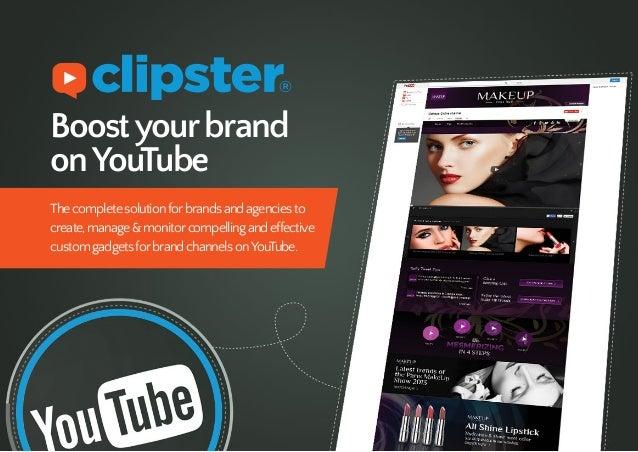 Boostyourbrand onYouTube Thecompletesolutionforbrandsandagenciesto create,manage&monitorcompellingandeffective customgadge...