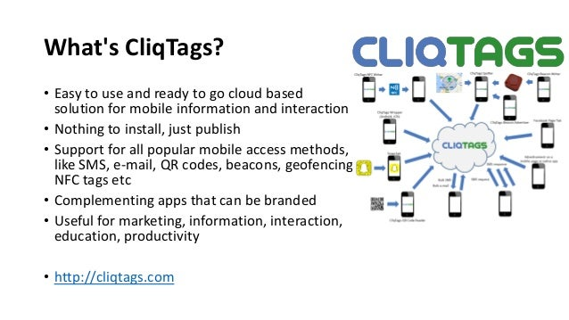 CliqTags - Use Cases Slide 2