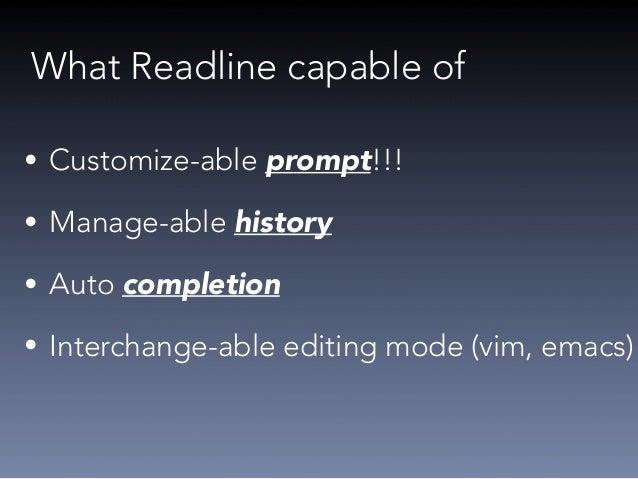 Let's make a simple Readline app  (live coding)