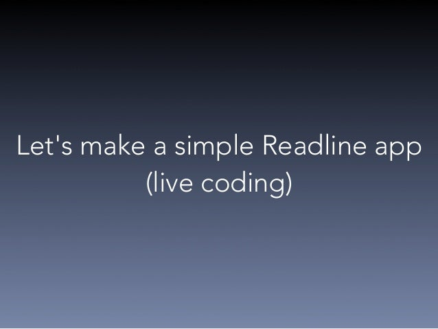 Some tips to make better CLI app  • Do one thing  • Playing well with Others (streams, exit code)  • Have clear, concise p...