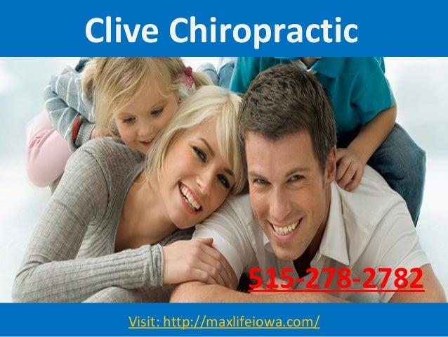 Clive Chiropractic Visit: http://maxlifeiowa.com/ 515-278-2782
