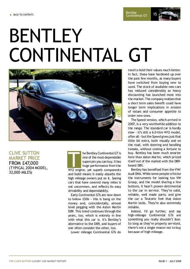 Clive sutton luxury car market report market price 15 fandeluxe Images