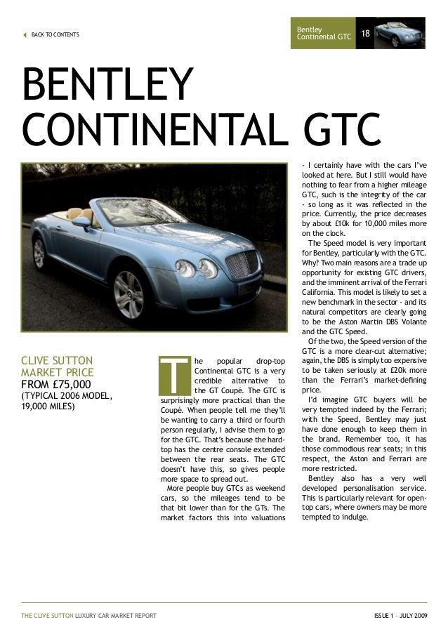 Clive sutton luxury car market report 18 fandeluxe Images