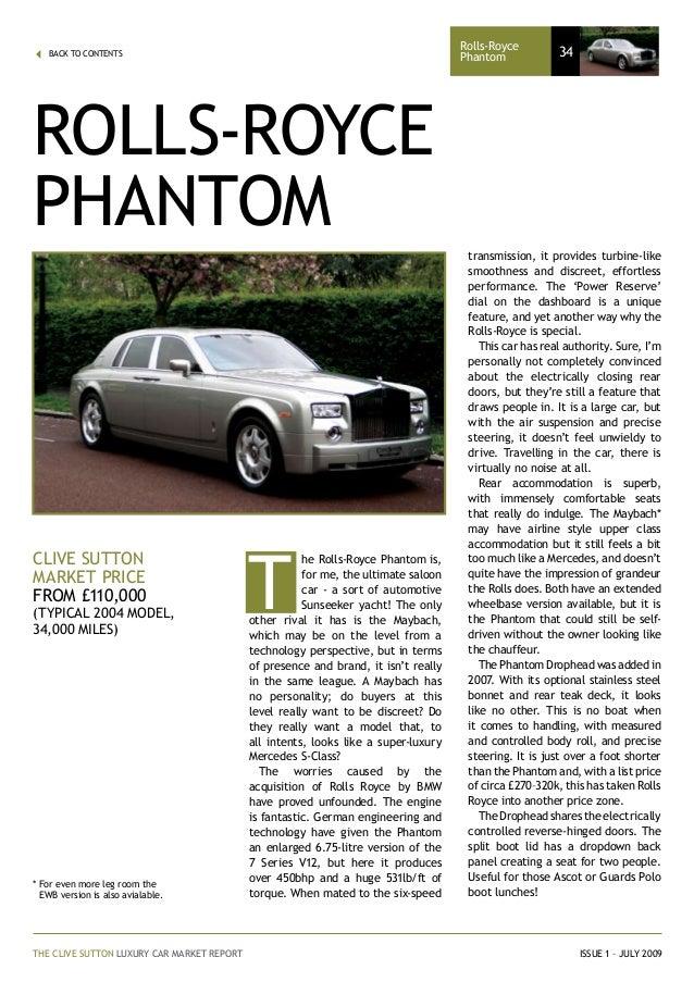 Clive sutton luxury car market report 34 fandeluxe Images