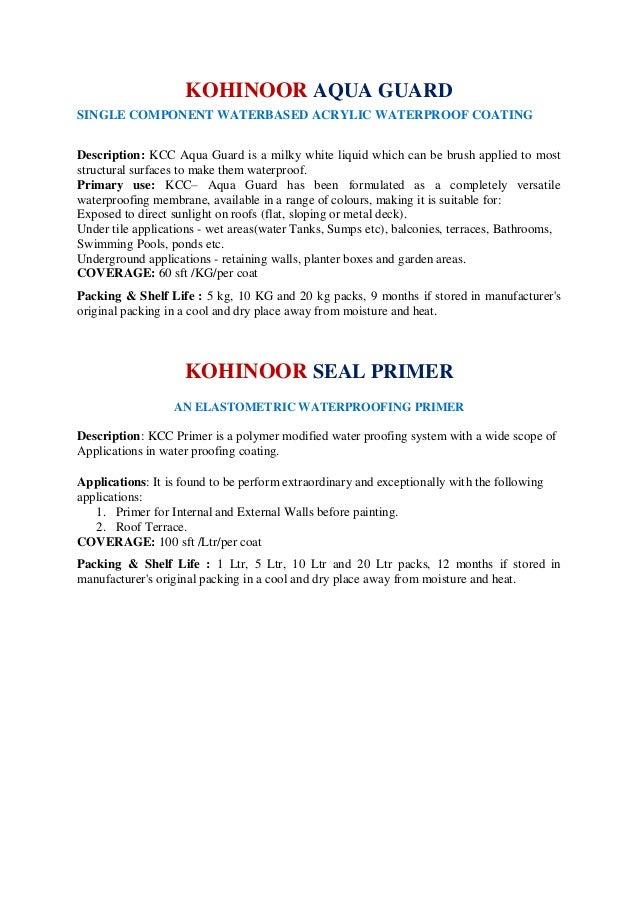 Kohinoor Construction Chemicals, Hyderabad, Construction