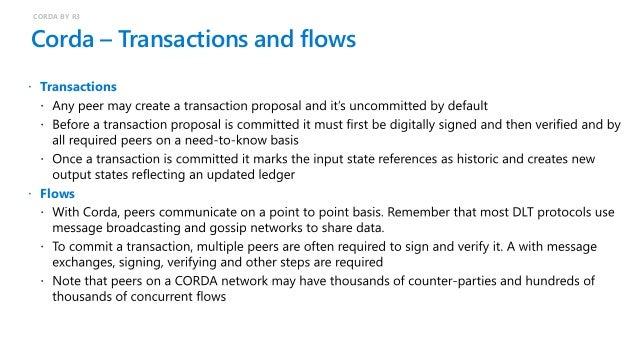 Corda – Example cash transfer flow CORDA BY R3