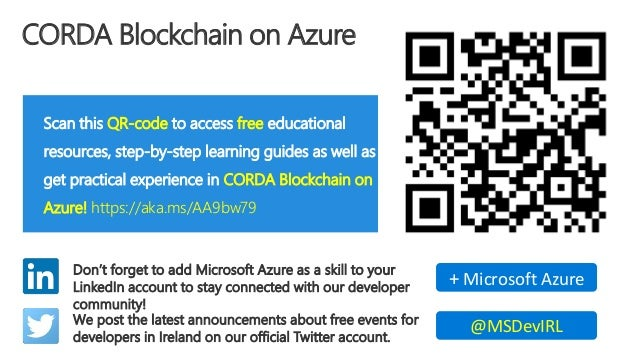 Cloud Lunch and Learn - Corda Blockchain on Azure
