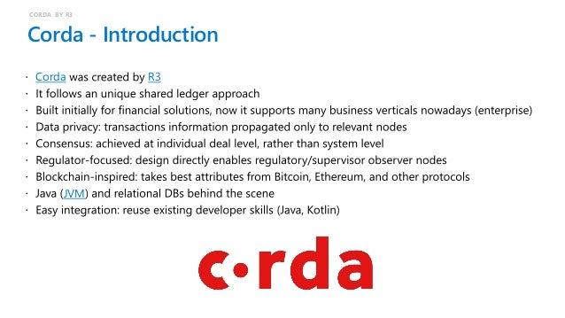 Corda – Technical details JVM-based AMQP JDBC Java Kotlin Token SDK CORDA BY R3