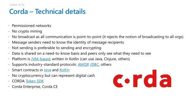 Corda – Key concepts CORDA BY R3