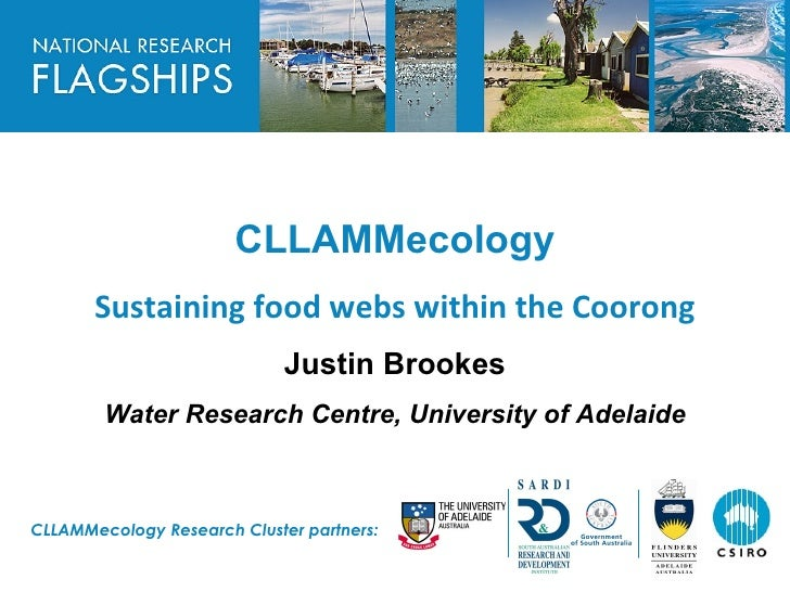 HEADLINE TO BE PLACED IN THIS SPACE                            CLLAMMecology        Sustaining food webs within the Cooron...