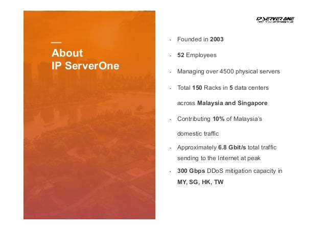 DDOS Mitigation Experience from IP ServerOne by CL Lee Slide 3