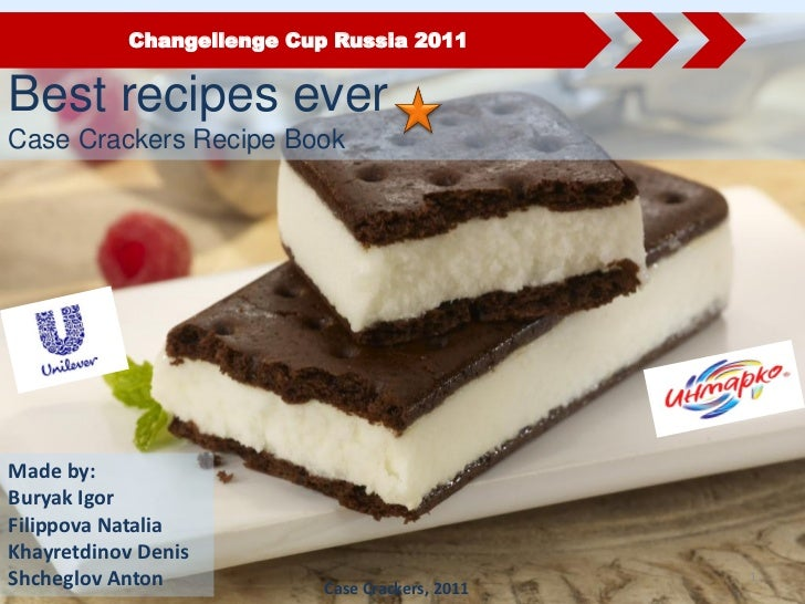 Changellenge Cup Russia 2011Best recipes everCase Crackers Recipe BookMade by:Buryak IgorFilippova NataliaKhayretdinov Den...